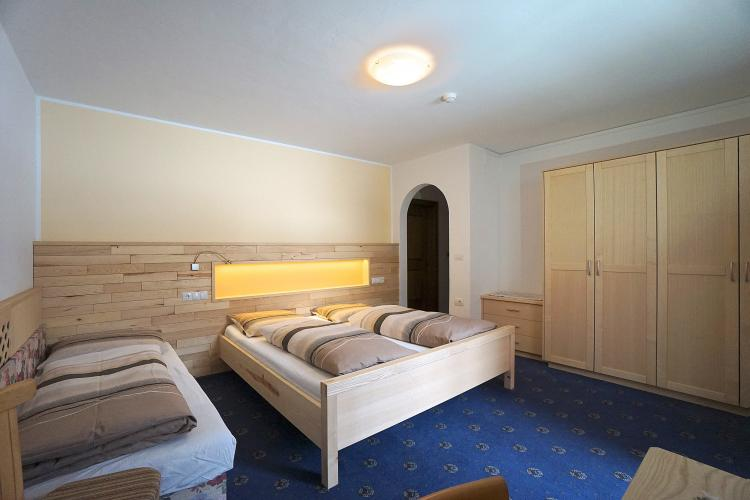 Roomy three-bed room
