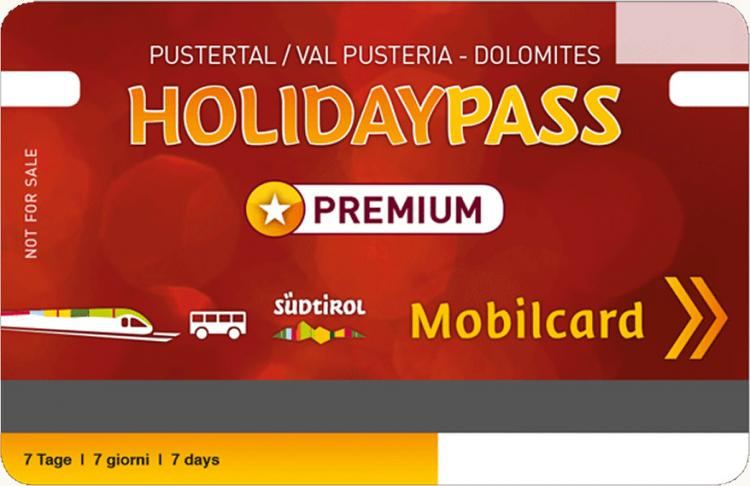 Holiday-Premiumpass – Mobilcard Val Pusteria