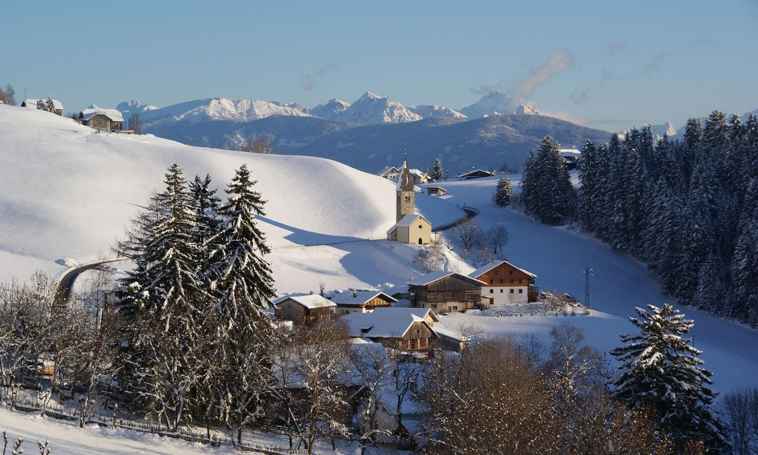 Winter landscape in Terento