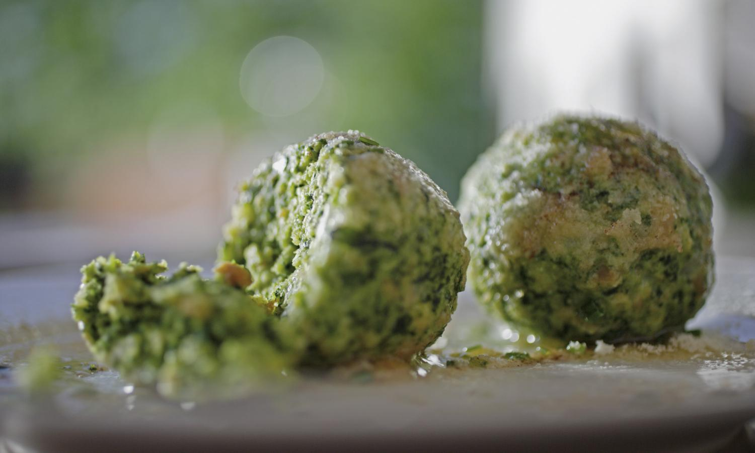 South Tyrolean spinach dumplings